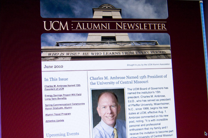 UCM Alumni Newsletter UCM Alumni Newsletter